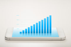Balkendiagramm-Mobile lizenzfreie stockbilder