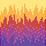Balkendiagramm Streifen-Sonnenuntergang Farben Stockfoto