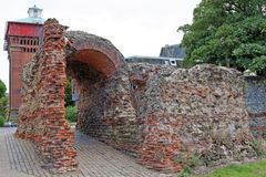 Balkerne Gate,Colchester,UK. A Roman gateway in the town's Roman wall Royalty Free Stock Photos
