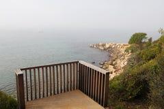 Balkon aan het overzees Royalty-vrije Stock Fotografie