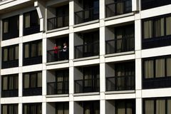Balkon-Ansicht Lizenzfreies Stockfoto