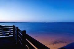 Balkon auf dem Meer Stockfotos