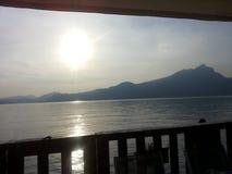 Balkon auf dem See Lizenzfreie Stockbilder
