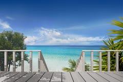 Balkon auf einem Strand lizenzfreies stockfoto