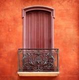 Balkon auf einer Wand Stockbild