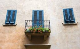 Balkon auf Haus Stockfoto