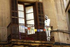Balkon - Barcelona Zdjęcia Stock