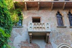 Balkon bij Juliet's-huis in Verona, Italië royalty-vrije stock foto