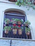 Balkon in Campo DE Fiori, Rome royalty-vrije stock foto