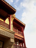 Balkon in China stock foto
