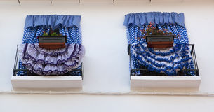 Balkon dekorujący, Marbella fotografia royalty free