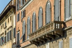 Balkon des italienischen Hauses Stockbild