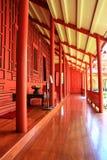 Balkon des traditionellen thailändischen Hauses Stockfotos