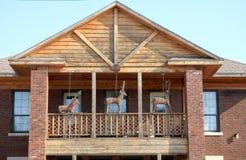 Balkon en deers royalty-vrije stock fotografie