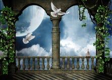 Balkon für die Fantasie Stockbild