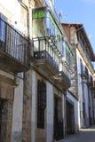Balkon in het oude dorp van Candelario in Spanje 24 september 2017 Spanje Royalty-vrije Stock Foto's