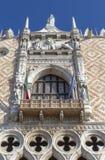 Balkon in het paleis van de Doges Stock Foto