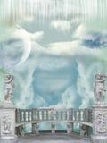 Balkon im Himmel lizenzfreies stockbild