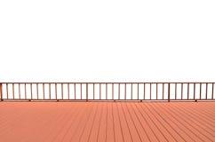 Balkon lokalisiert auf weißem Hintergrund stockfotografie