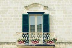 Balkon in Matera Stockfotos