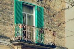 Balkon in Matera Lizenzfreie Stockfotos