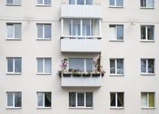 Balkon met bloemen Royalty-vrije Stock Fotografie