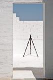 Balkon met driepoot Royalty-vrije Stock Afbeeldingen