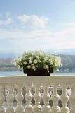 Balkon met vakantieatmosfeer Stock Foto's