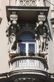 Balkon na domu w Zagreb fotografia stock