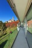 Balkon nowożytny dom fotografia royalty free