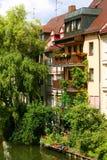 Balkon in Nuremberg Stock Afbeelding