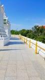 Balkon um Pagode am Tempel, Thailand Lizenzfreies Stockfoto