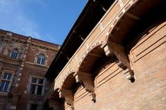 Balkon und Himmel lizenzfreie stockfotografie