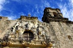 Balkon und Kontrollturm eines spanischen Auftrags Stockbilder