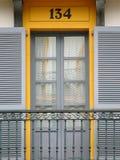 Balkon van de 19de eeuw in de stad van Donostia, Baskisch Land 2 royalty-vrije stock foto