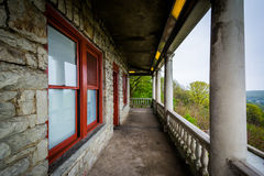 Balkon van de Pagode op Horizonaandrijving, in Lezing, Pennsylvania royalty-vrije stock foto