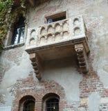 Balkon van Giuliet in Verona stock foto