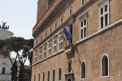 Balkon van Hitler en Mussolini stock foto's