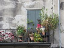 Balkon, Vieux Carre, New Orleans stock afbeelding