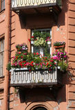 Balkon voll der Blumen Lizenzfreie Stockfotos