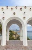 Balkon von Europa-Bögen, Nerja, Spanien Lizenzfreies Stockfoto