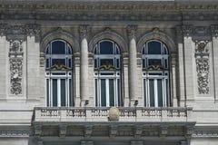 Balkon von Theatro-Doppelpunkt in Buenos Aires Stockfoto