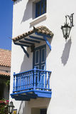 Balkon w Cartagena De Indias Zdjęcie Royalty Free