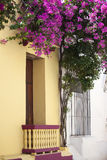 Balkon w Cartagena De Indias Zdjęcie Stock