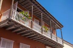 Balkon w Cartagena De Indias Obraz Royalty Free