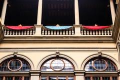 Balkon w Florencja podwórzu Obrazy Stock