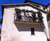 Balkon w Montefalco Fotografia Stock
