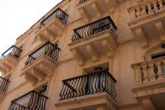 Balkon w Sliema, Malta Fotografia Stock