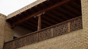 Balkon z drewnianym poręczem w Uzbekistan zdjęcie wideo