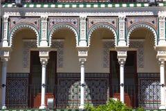 Balkon z kolumnami, Seville, Hiszpania zdjęcie royalty free